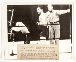 Original Wire Service Photo of Schmeling's Knock-out of Joe Louis