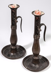 Pair of Period Chair Back Candlesticks