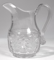 Early Pattern Glass Water Pitcher