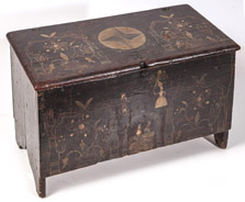 Small Early American Decorated Blanket Chest