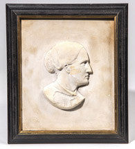 Plaster Relief of Lady Related to a President