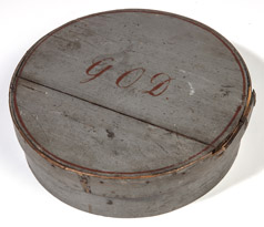 Early Painted Round Band Box
