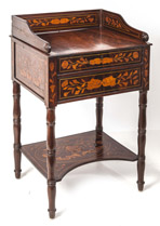 Marquetry Inlaid Rosewood Stand