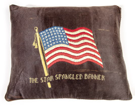 Embroidered U.S. Flag Pillow
