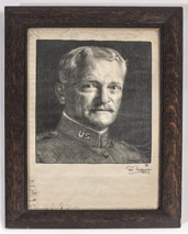 Signed Leo Mielziner Gen. Pershing Portrait