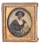 Ambrotype Of African American Nanny & Her White Charge