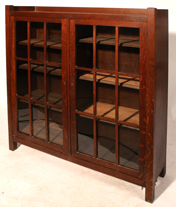 Arts and Crafts Double Door Bookcase