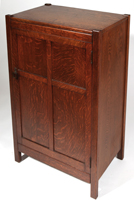 Arts and Crafts One Door Music Cabinet