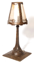 Arts and Crafts Bronze Table Lamp