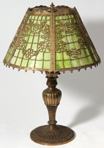 Salem Brothers Slag Glass Table Lamp