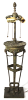 Large Impressive Bronze Lamp Base