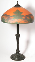 Reverse Painted Table Lamp