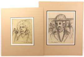Two Hugo Zacchini (FL/CA) Pencil Drawings