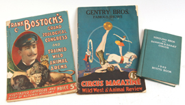 Circus Programs & Route Book From Zacchini Estate