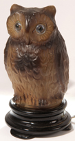 Consolidated Figural Glass Owl Lamp