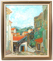Carl Lewis Pappe (Ohio/Mexico) Oil Painting