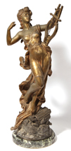 Large  A. Moreau Spelter Sculpture