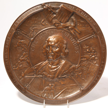 1892 Christopher Columbus Bronze Wall Plaque