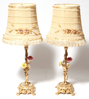 Pair of  Edwardian Vanity Lamps