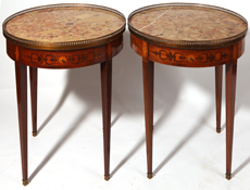 Pair of Louis XVI MT Inlaid Drum Tables
