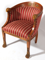 Louis XVI Barrel Back Chair