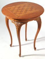 Cherry Victorian Chess Table