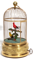 French Double Birds in Cage Automaton