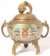 Chinese Cloisonné Censor