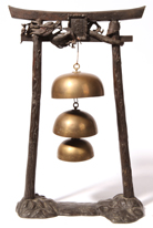 Meiji Period Bronze Hanging Gongs