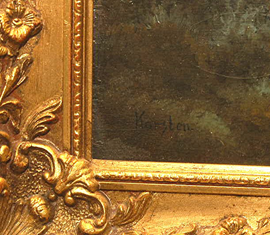 SIGNATURE OF PAINTING