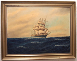 OIL PAINTING OF SHIP
