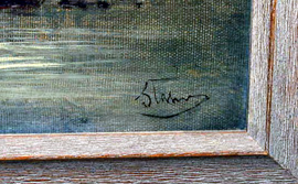 SIGNATURE OF OIL PAINTING
