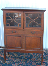 MAHOGANY INLAID BOOKCASE