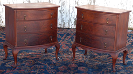 PAIR OF MAHOGANY NIGHT STANDS