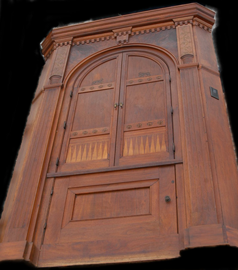 ARCHITECTURAL CORNER CUPBOARD