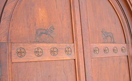 DETAIL OF CORNER CUPBOARD