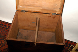 INSIDE OF CHEST ON STAND