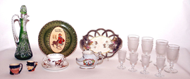 ROYAL DOULTON, MAJOLICA & GLASSWARE