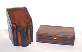 EARLY MAHOGANY LETTER BOX