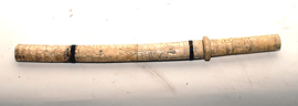 ORIENTAL CARVED IVORY SHORT SWORD