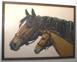 LEON DANCHIN HORSE LITHOGRAPH