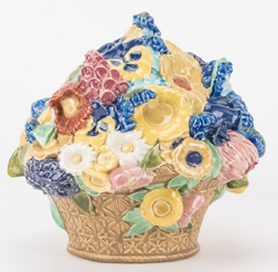 Rookwood Flower Basket by Carrie F. Steinle