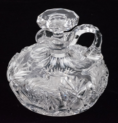 American Brilliant Period Cut Glass Whiskey Decanter