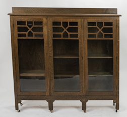 Arts & Crafts Three Door Bookcase