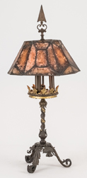 Arts & Crafts Mica Table Lamp