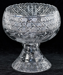 American Brilliant Period Cut Glass Punch Bowl