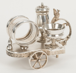 Figural Silver Plated Caster Set/Napkin Ring