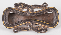 Egyptian Gold & Silver Inlaid Belt Buckle