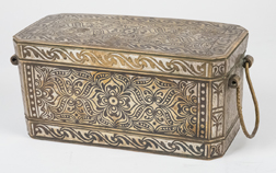 Philippines Silver Inlaid Betel Nut Box