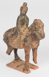 Chinese Tang Dynasty Mounted Horse Figure